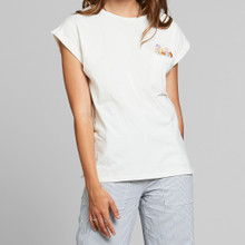 Dedicated Visby T Flower Pocket - Off White