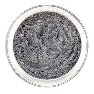 Loose mineral eye shadow in a muted Smoky Gray shade with a slight deep bluish undertone for creating depth and glamour for daytime or evening. It has a pearlescent sheen and can be intense or blended to sheer coverage. Use as eyeliner also.