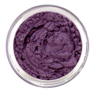 Loose mineral eye shadow in a deep rich Plum shade with Blue Violet undertone  Semi matte in texture and excellent for creating intensity of the eye. Use as eyeliner or blush enhancer.