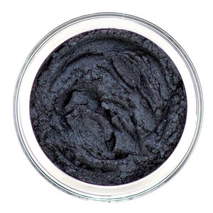 loose mineral eyeshadow in a deep Blue Black, semi matte for defining the eyes, creating depth or a smoky, sultry look, can be used as eyeliner