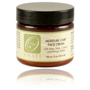 ONATI Moisture Care Face Cream is perfect for mature, normal, combination, sensitive, dry to very dry skin. Excellent for sun damaged skin and acne prone skin types. Our cream is rich in essential fatty acids and amino acids and goes on nicely and is quickly absorbed, never leaving a greasy after feel. This concentrated formulation hydrates parched skin with shea, mango and cocoa butters, leaving skin soft as velvet, toned, supple and looking and feeling revitalized.
