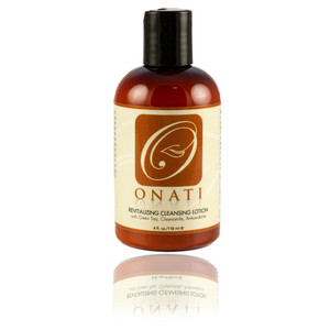 ONATI Revitalizing Cleansing Lotion is perfect for sensitive, mature, dry, sun damaged, oily, normal, combination skin.  It is a gentle, pH balanced, organic non-foaming cleanser and is enhanced with Green Tea (powerful antioxidant) and vitamins A, B, C and E for aiding in the prevention of free radical damage.