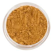 loose mineral foundation Mirabella shade deep warm honey with peach and golden yellow undertones and medium skin tone 3 formulas for normal / dry / oily / combo / acne / sensitive skin