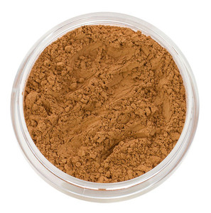 loose mineral foundation Emily shade medium to tan skin tone with reddish bronze undertones and hint of golden peach for african american, polynesian, latina, southeast asian women 3 formulas for normal / dry / oily / combo / acne / sensitive skin