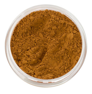 loose mineral foundation Melanie shade tan to dark with rich golden caramel skin tone, for women with strong, dark golden undertones 3 formulas for normal / dry / oily / combo / acne / sensitive skin