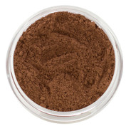 loose mineral foundation Ebony shade cool dark chocolate which is deep dark shade that has both red and blue in the skin tone 3 formulas for normal / dry / oily / combo / acne / sensitive skin