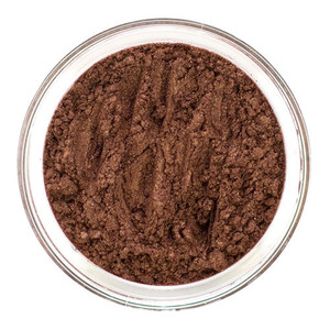 Loose mineral eye shadow is a beautiful deep rich Brown giving way to a Coppery heat. It is gorgeous with just about any shade you choose and makes a wonderful accent for defining lash line or the crease of the eye. Has a very subtle shimmer. Use as eyeliner, bronzer or mineral makeup foundation enhancer.
