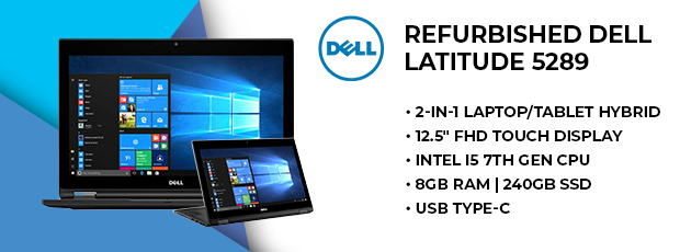 """12.5"""" Refurbished Dell Touchscreen Laptop"""