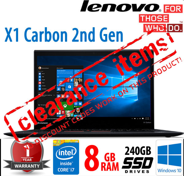 ThinkPad X1 Carbon Intel Core i7-4600U 2 10GHz 8GB 240GB