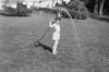 """Dean in the backyard at age 6 (in 1962).  He always """"accidently"""" squirted the clothes Mother hung out to dry."""