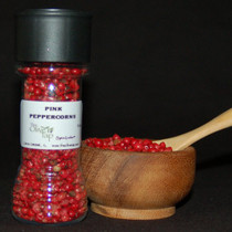 Pink Peppercorns In Jar
