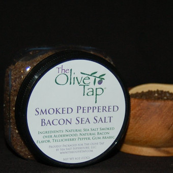 Smoked Peppered Bacon Sea Salt In Jar