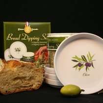 Bread Dipping Seasoning and Saucer Set