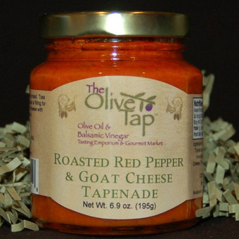 Roasted Red Pepper and Goat Cheese Tapenade