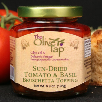 Sun-Dried Tomato and Basil Bruschetta Topping