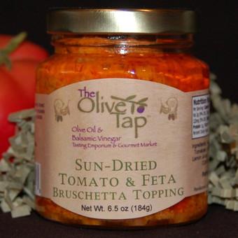 Sun-Dried Tomato and Feta Bruschetta Topping