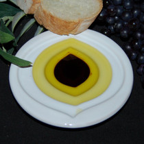 Pinzimonio Olive Oil Dipping Dish - Leaf Design