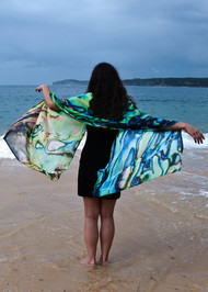 Paua Shell Shawl - Blues