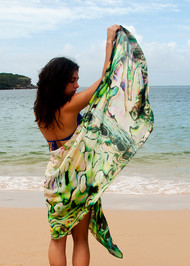 Paua Shell Shawl - Silk