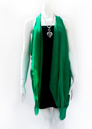 Paris in Emerald Green Silk