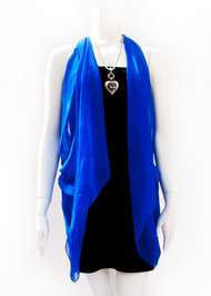 Paris in Electric Blue Silk