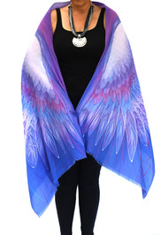 Zenith: Blue-Violet Eagle Wings - Soft Cotton