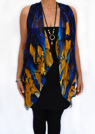 Paris - Blue & Mustard Feathers