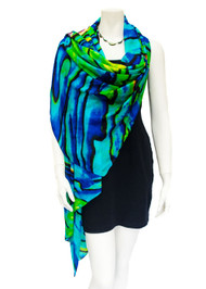 Maxi Wrap in Paua Shell Print