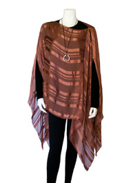Diva Drape in Hazelnut Satin-Striped Silk