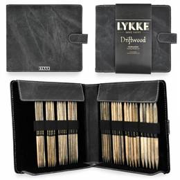 """Lykke Driftwood 6"""" DPNs Set: Large Gauges (US 6-13), Grey Case"""