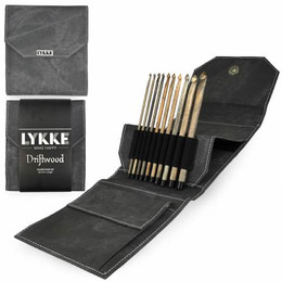 Lykke Driftwood Crochet Hook Set, Grey Case