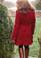 Alizarin coat in Brushed Fleece