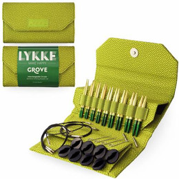 Lykke Grove Bamboo Short-Tip Set, Green Case