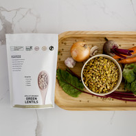 Certified Organic Green Lentils - 500g / 17.65oz
