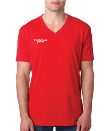 Next Level CVC V-Neck (Heather Red)