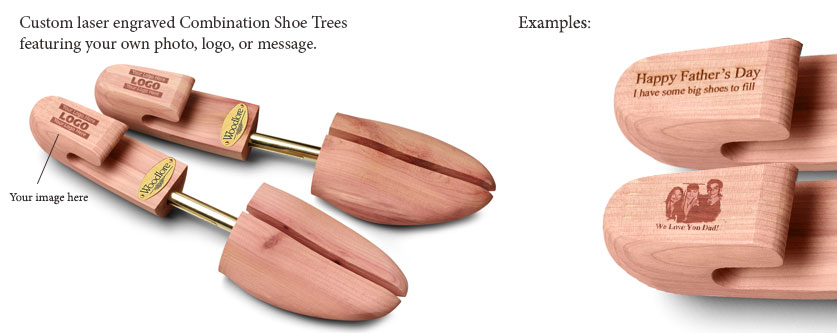 Personalized Laser Engraved Men's Combination Cedar Shoe Tree