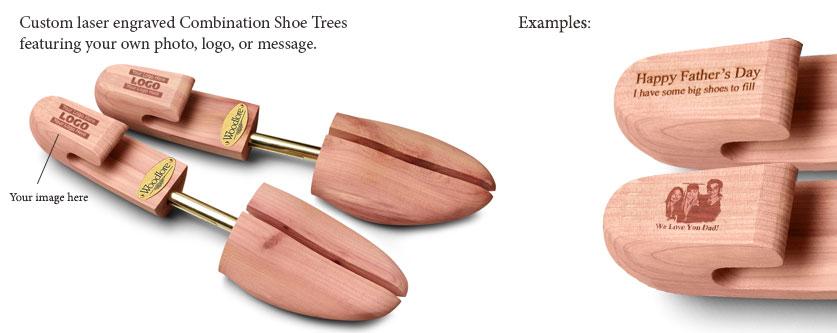 Personalized Laser Engraved Men's Combination Cedar Shoe Tree
