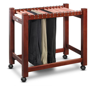 Woodlore 15 Pair Pant Trolley with aromatic cedar hanging rods.