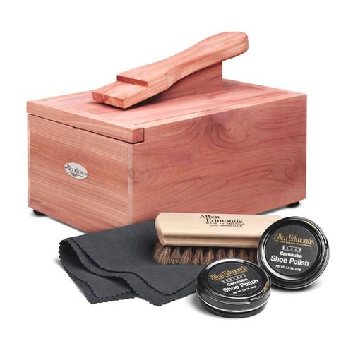 Woodlore Professional-Style Cedar Shoe Valet with Starter Kit I
