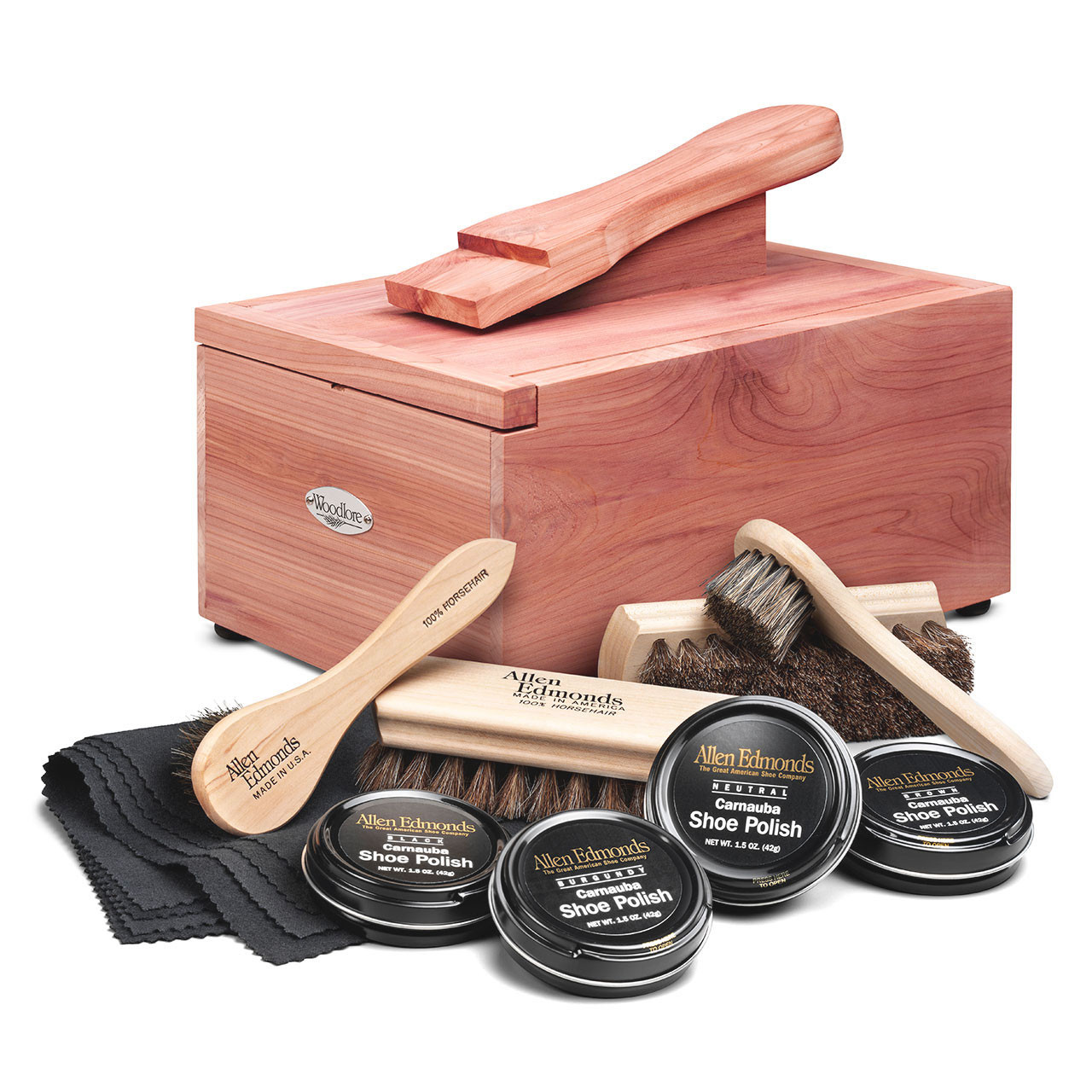 Woodlore Professional-Style Cedar Shoe Valet with Starter Kit II