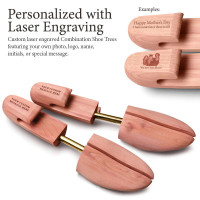 Personalized Laser Engraved Women's Combination Cedar Shoe Tree