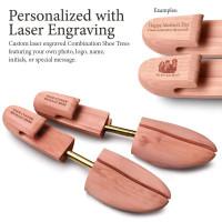 Personalized Laser Engraved Women's Combination Cedar Shoe Tree
