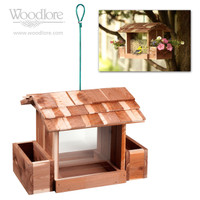 Cedar Bird Feeder (with planter boxes)