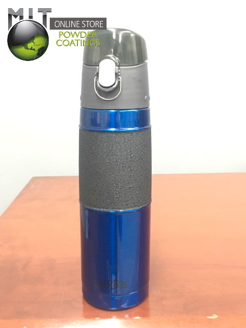 Candy Blue and Black Wrinkle Water Bottle