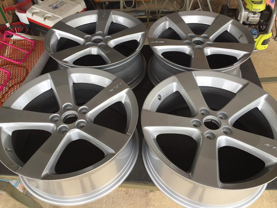 """MIT Powder Coatings - Bengal Silver PESGY-430-SG7 - 19"""" srt rims Bengal Silver - top coat Prismatic Powders Clear Vision PPS-2974 clear coat - Photo submitted by  SpunWebb Powder Coating - Phillip Webb"""