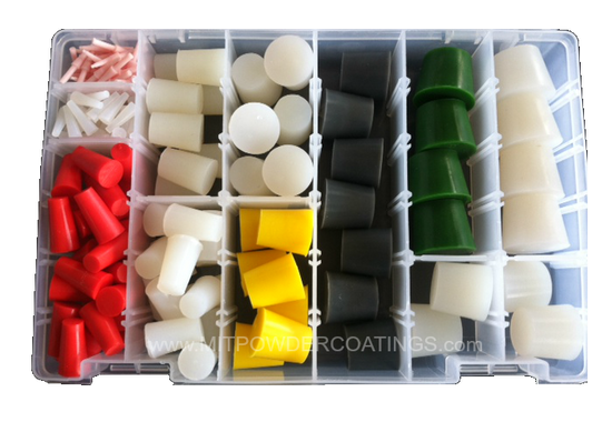 MIT Masking Supplies - 186 piece High Temp Silicone Plug Kit MIT-PK-186
