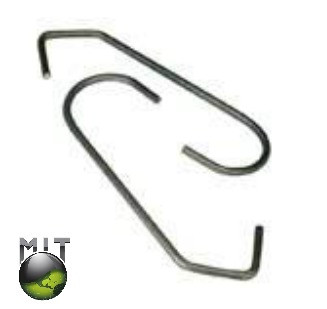 MIT Masking Supplies - 100 pc. CV - Shaped Metal Powder Coating Hook (MIT-CVH-100)