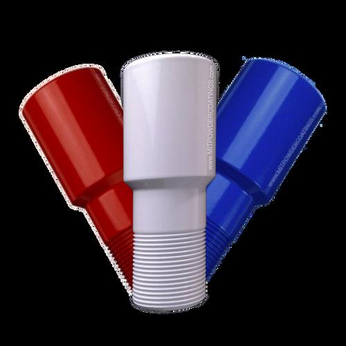 MIT Powder Coatings - Red, White & Blue Bundle - Red Baron PESR-500-G9, Sky White PESW-500-G9, Blue Streak PESBL-400-G9