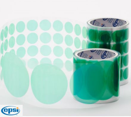 EPSI - AD12 Series - Green Poly Discs [With Slit Back Liner]