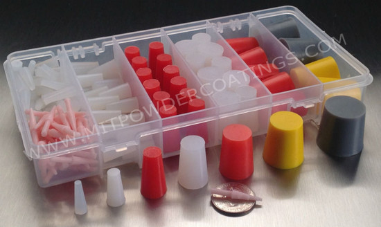 MIT- 156 piece High Temp Silicone Masking Plug Kit MIT-PK-156